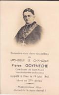 Curé-doyen Vice-archiprêtre De Bayonne--faire-part De Décès 19 Mai 1948--souvenez-vous Dans Vos Prières-voir 2 Scans - Décès