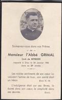 40--curé De BETBEZER-d'ARMAGNAC--faire-part De Décès 24 Janvier 1945--souvenez-vous Dans Vos Prières-voir 2 Scans - Décès