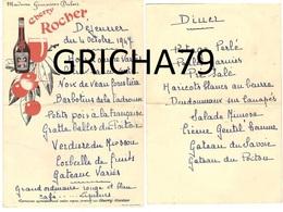 MENU CHERRY ROCHER 1947 - Menus