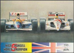 Nigel Mansell, F1 World Champion, 1992 - Studio 5 Postcard - Grand Prix / F1