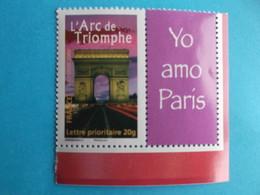 TIMBRE : PERSONNALISE : No: 3599A , L'ARC De TRIOMPHE , Logo PRIVE , Bord De Feuille , XX En Trés Bon état - Personalizzati