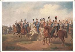 72165384 Ludwig II Generalstab Kuensterkarte L. Behringer  Persoenlichkeiten - Famous People