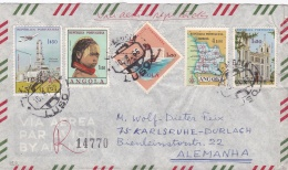 Angola Registered Cover Posted Luso 1966 (T7-A25) - Angola