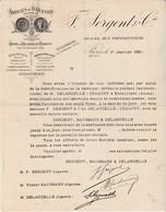 Courrier 1921 / F. SERGENT / Etamine Mousseline Broderie / 02 Etreillers Aisne / Destruction Usine Guerre 14/18 - France