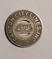 TOKEN JETON GETTONE TRASPORTO TRANSIT GOOD FOR ONE FARE CANTON CITY LINES - Monetari/ Di Necessità