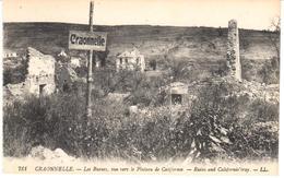 POSTAL  CRAONNELLE  -FRANCIA  - LES RUINES VUE VERS LE PLATEAU DE CALIFORNIE - Laon