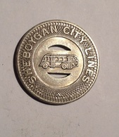TOKEN JETON GETTONE TRASPORTO TRANSIT GOOD FOR ONE FARE SHEBOYGAN CITY LINES - Monetari/ Di Necessità