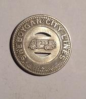 TOKEN JETON GETTONE TRASPORTO TRANSIT GOOD FOR ONE FARE SHEBOYGAN CITY LINES - Monétaires/De Nécessité