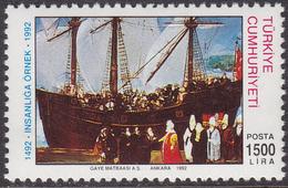 TURKEY 1992, 500 Years Of Jewish Immigration MNH, Mi# 2949 - 1921-... République