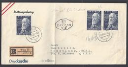 AUTRICHE - 1951 - Affr. Wilhelm Kienzl N° 808 Sur Enveloppe Recommandée 1er Jour De Wien Pour Campulung (Mold) B/TB - - FDC