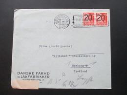 Dänemark 1940 Zensurpost Der Wehrmacht OKW Geprüft. Danske Farve Lakfabikker Kobenhavn. - Cartas