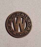 TOKEN JETON GETTONE TRASPORTO TRANSIT GOOD FOR ONE FARE CITY W. C. F. & N. RAILROAD - Monetari/ Di Necessità