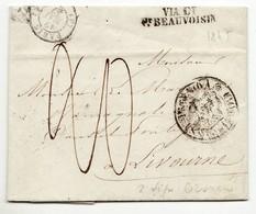 7308 FRANCE PARIS TO LIVOURNE LIVORNO 1847 - Poststempel (Briefe)