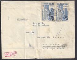 PORTUGAL - 1940 - Paire Dom Alfonso 1er N° 615 Sur Enveloppe De Lissabon Vers Haunsheim (ALL) - Lettres & Documents