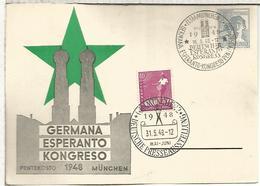 ALEMANIA MUNCHEN 1948 ESPERANTO CONGRESS PRESS AUSSTELLUNG - Esperánto