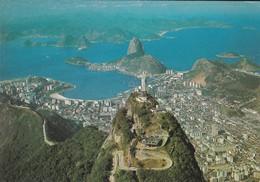 BRASIL  TURISTO--RIO DE JANEIRO--vista Aéréa Do Corcovado E Baia De Guanabara--voir 2 Scans - Brazil