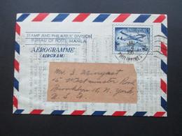 Philippines / Philippinen 1957 Aerogramme Department Of Public Works And Communications Bureau Of Posts - Philippinen