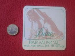 POSAVASOS COASTER BILITIS BAR MUSICAL  MÚSICA MUSIC AVENIDA MERIDIANA BARCELONA ?? VER FOTO/S Y DESCRIPCIÓN. - Beer Mats