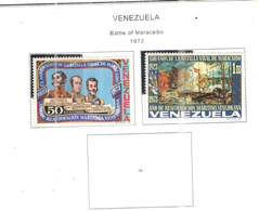 Venezuela PO 1973 Battaglia Maracaibo   Scott.1037+1038 See Scans   On Scott.Page - Venezuela