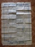 CARTE HANOI VIETNAM  EDITEE EN 1949  BAN-DO THANI-PHO HANOI QUARTIER ECHELLE 1 / 10.000 - Cartes