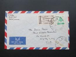 Libanon / Liban 1960 Luftpost / Air Mail. In Die USA Gelaufen! Beirut. Point O 'woods Association New York - Libanon
