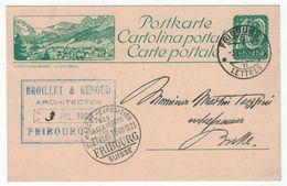 Suisse // Schweiz // Switzerland  // Entier Postaux // Entier Postal Au Départ De Fribourg Et Cachet Marché-Exposition - Entiers Postaux