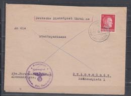 """II.WK Ukraine Brief """"  Deutsche Dienstpost Ukraine""""  Alexandrowka 15.12.42 Und Dienstsiegel Aussenstelle Kirowograd - Occupation 1938-45"""