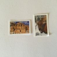 FRANCE 2005 UNESCO  Bison Et  Monument A Petra (2vals)Superbe Neuf-MUH Yv132-133 - Ungebraucht