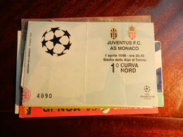 15947) CALCIO FOOTBALL JUVENTUS MONACO CHAMPIONS LEAGUE 1998 - Biglietti D'ingresso