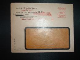 LETTRE EMA SC 1351 à 015F Du 7 JAN 54 DOUAI (59) SOCIETE GENERALE DES HUILES DE PETROLE BP HUILE ENERGOL - Marcophilie (Lettres)