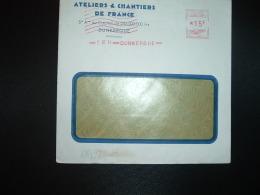 LETTRE EMA C. 3837 à 15F Du 3 III 51 DUNKERQUE (59) ATELIERS & CHANTIERS DE FRANCE - Marcophilie (Lettres)