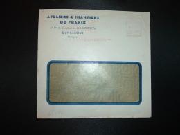 LETTRE EMA C. 3837 à 15F Du 6 I 54 DUNKERQUE (59) ATELIERS & CHANTIERS DE FRANCE - Marcophilie (Lettres)