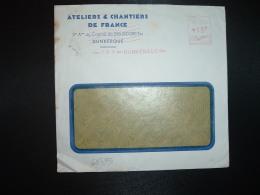 LETTRE EMA C. 3837 à 15F Du 17 II 51 DUNKERQUE (59) ATELIERS & CHANTIERS DE FRANCE - Marcophilie (Lettres)