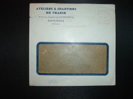 LETTRE EMA C. 3837 à 15F Du 8 I 54 DUNKERQUE (59) ATELIERS & CHANTIERS DE FRANCE - Marcophilie (Lettres)
