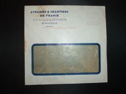 LETTRE EMA C. 3837 à 15F Du 23 XII 53 DUNKERQUE (59) ATELIERS & CHANTIERS DE FRANCE - Marcophilie (Lettres)