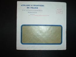LETTRE EMA C. 3837 à 20F Du 17 II 51 DUNKERQUE (59) ATELIERS & CHANTIERS DE FRANCE - Marcophilie (Lettres)