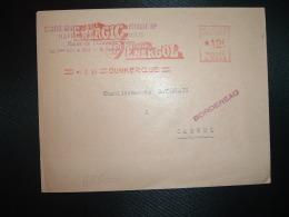 LETTRE EMA C 3305 à 12F Du 5 I 54 DUNKERQUE (59) SOCIETE GENERALE DES HUILES DE PETROLE BP RAFFINERIE HUILE ENERGOL - Marcophilie (Lettres)