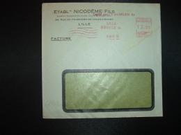 LETTRE EMA K 2859 à 12.00 Du 5 MARS 51 LILLE BOURSE (59) ETABLTS NICODEME FILS - Marcophilie (Lettres)