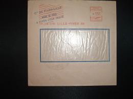 LETTRE EMA C. 3091 à 15F Du 23 XII 53 LILLE FIVES (59) Cie DE FIVES-LILLE USINE DE FIVES - Marcophilie (Lettres)