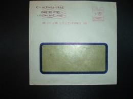 LETTRE EMA C. 3091 à 15F Du 17 V 49 LILLE FIVES (59) Cie DE FIVES-LILLE USINE DE FIVES - Marcophilie (Lettres)