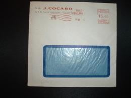 LETTRE EMA K 2052 à 15.00 Du 17 MAI 45 LILLE MOULINS (59) S.A. J. COCARD - Marcophilie (Lettres)