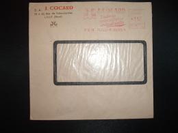 LETTRE EMA G 3546 à 15F Du 17 II 51 LILLE MOULINS (59) S.A. J. COCARD Toute La Robinetterie Industrielle - Marcophilie (Lettres)