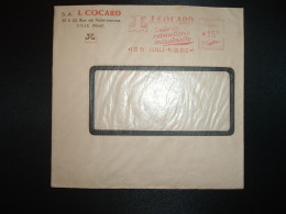 LETTRE EMA G 3546 à 15F Du 3 III 51 LILLE MOULINS (59) S.A. J. COCARD Toute La Robinetterie Industrielle - Marcophilie (Lettres)