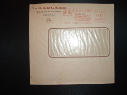 LETTRE EMA G 3546 à 15F Du 23 XII 53 LILLE MOULINS (59) S.A. J. COCARD Toute La Robinetterie Industrielle - Marcophilie (Lettres)