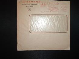 LETTRE EMA G 3546 à 15F Du 6 I 54 LILLE MOULINS (59) S.A. J. COCARD Toute La Robinetterie Industrielle - Marcophilie (Lettres)