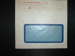 LETTRE EMA K 2052 à 15.00 Du 22 DEC 49 LILLE MOULINS (59) S.A. J. COCARD - Marcophilie (Lettres)