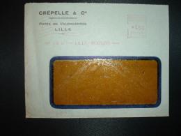 LETTRE EMA C. 2179 à 450 Du 28 III 47 LILLE MOULINS (59) CREPELLE & Cie Ingénieurs Constructeurs - Marcophilie (Lettres)