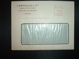 LETTRE EMA C. 2179 à 1500 Du 2 III 51 LILLE MOULINS (59) CREPELLE & Cie Ingénieurs Constructeurs - Marcophilie (Lettres)