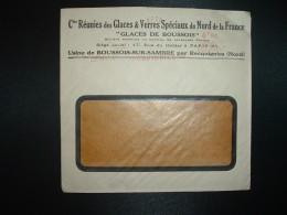 LETTRE EMA C. 0309 à 4F50 Du 29 III 47 RECQUIGNIES (59) GLACES DE BOUSSOIS Cies Réunies Des Glaces & Verres Spéciaux - Marcophilie (Lettres)