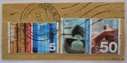 Hong Kong. 2002 2 Used Stamps HK$5 & HK$50 SG 1130 & 1134 - 1997-... Speciale Bestuurlijke Regio Van China
